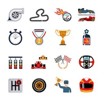 Набор гоночных иконок
