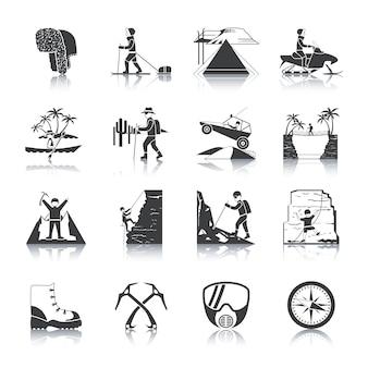 Экспедиция иконы черный набор