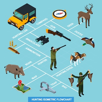 Изометрическая блок-схема охоты