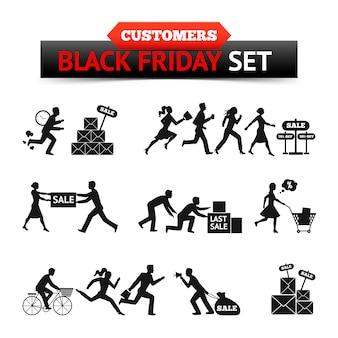 Черная пятница продажи клиентов набор