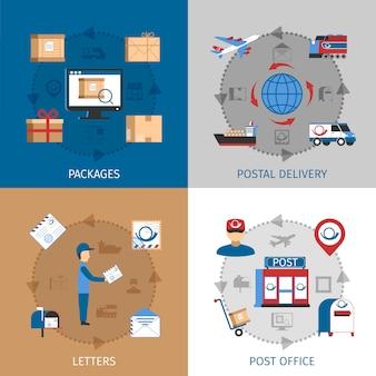 Почта концепция дизайна