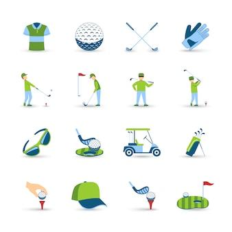 Набор иконок для гольфа