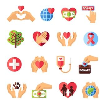 Набор иконок благотворительности