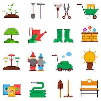 Набор иконок садоводства
