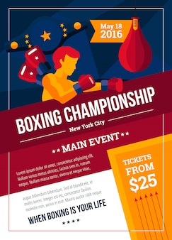 ボクシング選手権ポスター