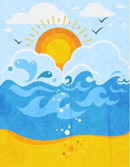 海の波の抽象的な背景