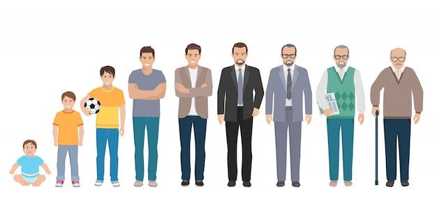 男性の家族キャラクターセット