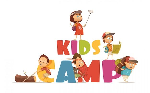 キャンプの子供たちのコンセプト