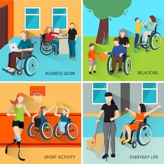 Набор иконок для людей с ограниченными возможностями