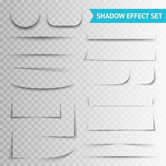 Белая бумага режет прозрачный набор теней