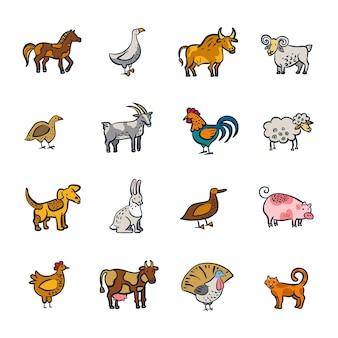 Линия ферма животных набор