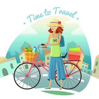 旅行する時間の図