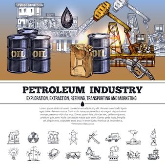 Нефтяная индустрия инфографика