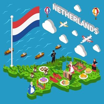 オランダの観光マップ