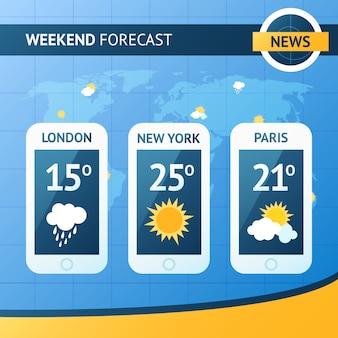 天気予報の背景