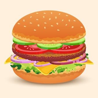 ハンバーガーサンドイッチ