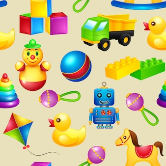 おもちゃのシームレスパターン