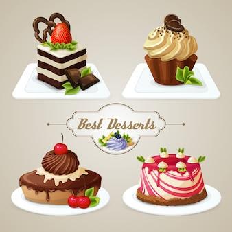 Сладости, торты, десертный набор