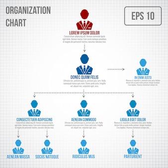 Шаблон организационной структуры инфографики
