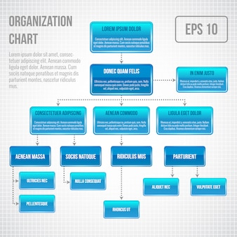 組織図インフォグラフィックテンプレート