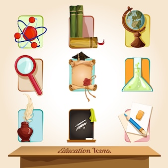 Набор элементов образования
