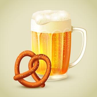 Кружка пива кренделя иллюстрации