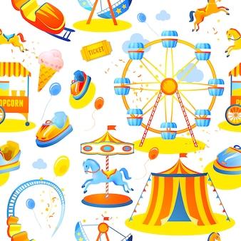 遊園地のシームレスパターン