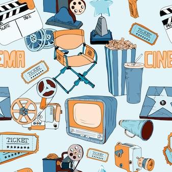 映画館色のシームレスパターン