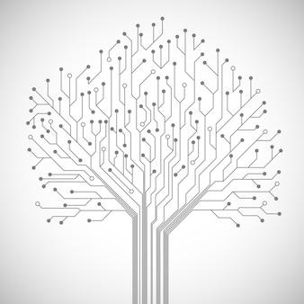 回路基板の木のシンボル
