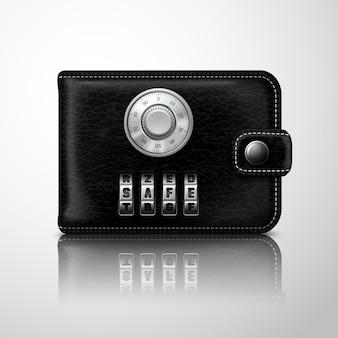 組み合わせコードでロックされた財布