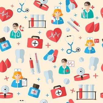 医療のシームレスパターンパターン