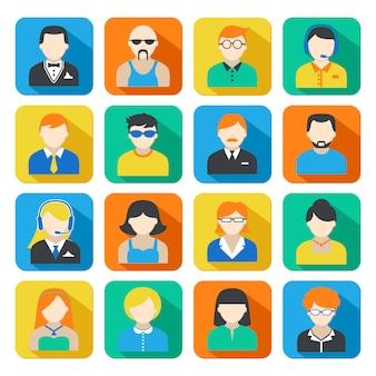 Набор бизнес аватаров