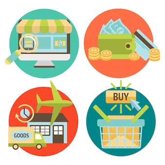 オンラインショッピングビジネス要素セット