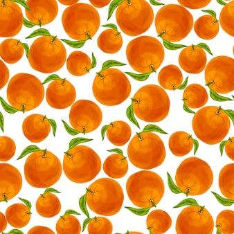 オレンジのシームレスなパターン