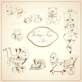 レトロなおもちゃ描画要素セット