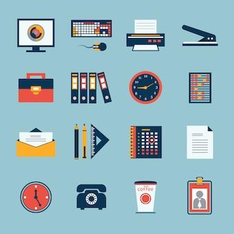 Бизнес офис канцелярские иконки