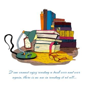 静物を読む本
