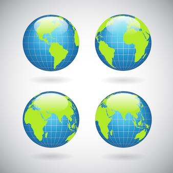Набор иконок земного шара