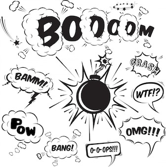 Коллекция элементов дизайна комические речи пузыри
