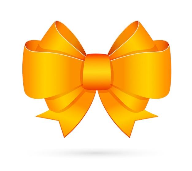 黄色の装飾的な弓エンブレム