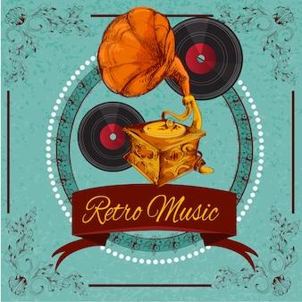 Ретро музыка плакат