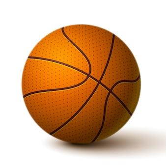 リアルなバスケットボールボールのアイコン