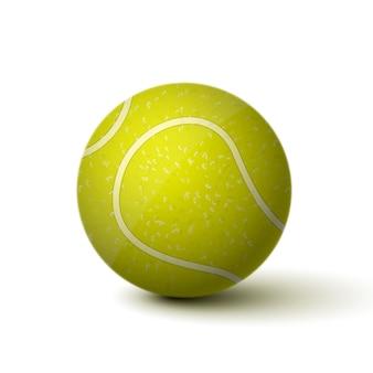 Реалистичная теннисный мяч значок, изолированных