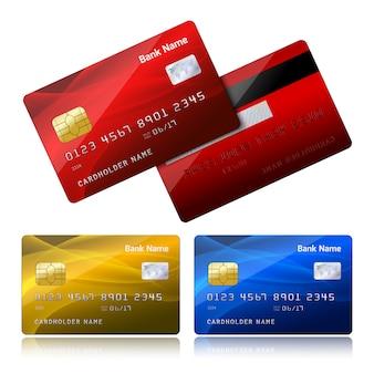 Реалистичная кредитная карта с чипом безопасности