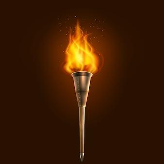 Факел иллюстрации значок плакат