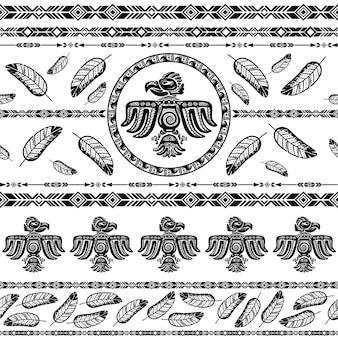 Индийский племенной узор фона