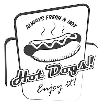 Постер с хот-догом