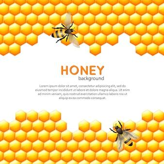 Мед пчелы фон