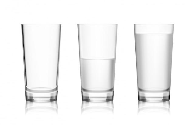 いっぱいと空のグラス