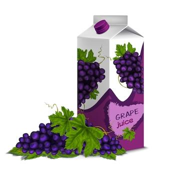 Пакет сока виноградный